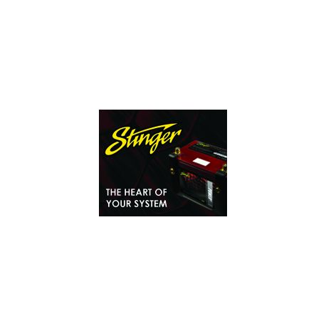 Stinger Web Banner 180X150 Battery Black Texture