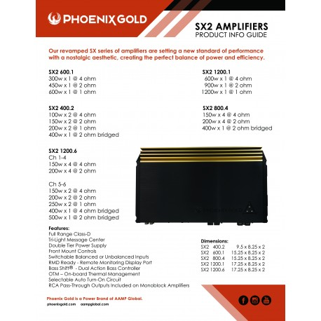 SX2 Amplifier Info Sheet