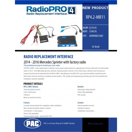 RP4.2-MB11 Product Sheet