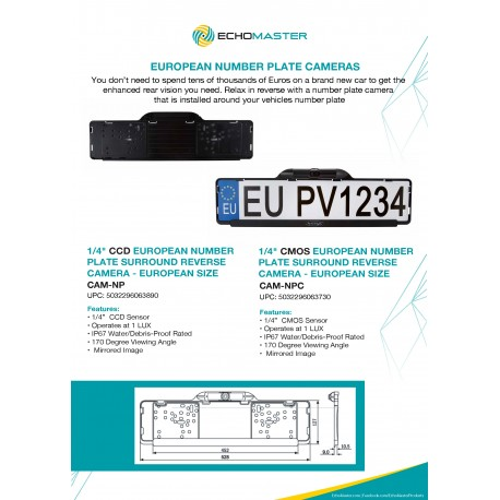 EU Number Plate Cameras One Sheet
