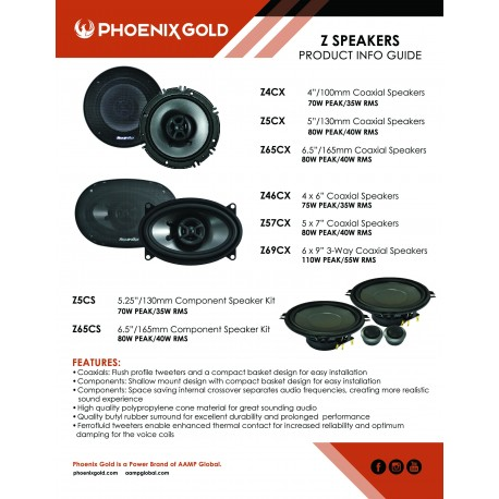 Z Speaker Info Sheet
