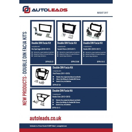 Double DIN Fascia Kits August 2017
