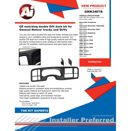 GMK346TB Product Sheet