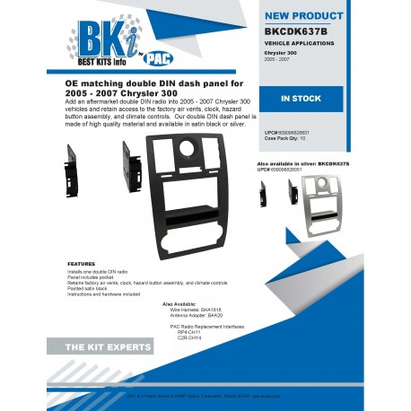 BKCDK637B and BKCDK637S Product Sheet