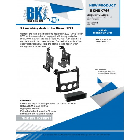 BKNDK746 Product Sheet