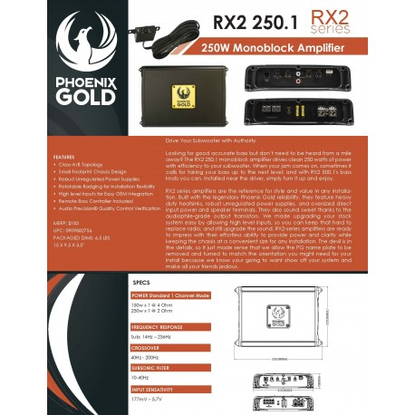 RX2 250.1 One Sheet