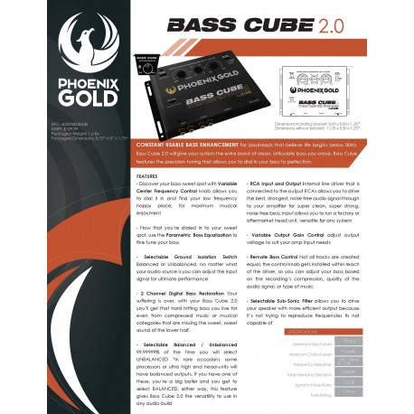 Bass Cube 2.0 One Sheet