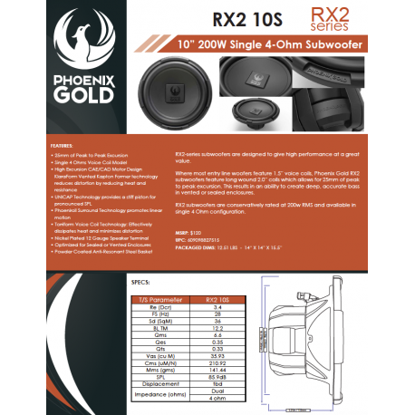 RX2 10S One Sheet