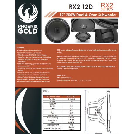 RX2 12D One Sheet