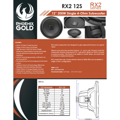 RX2 12S One Sheet