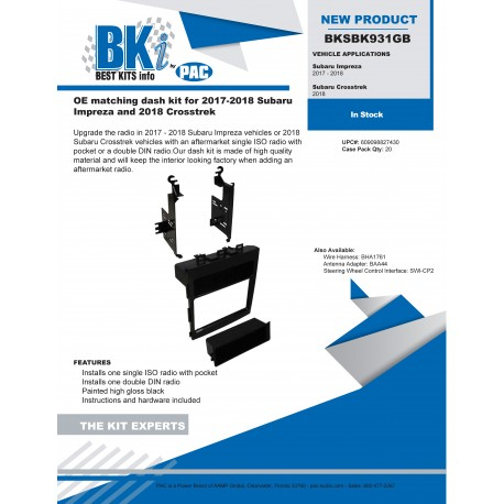 BKSBK931GB Product Sheet