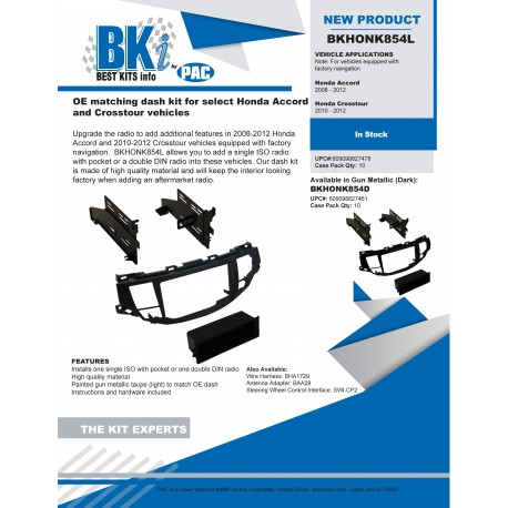 BKHONK854D_L Product Sheet