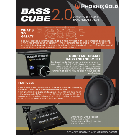 Bass Cube Information Sheet