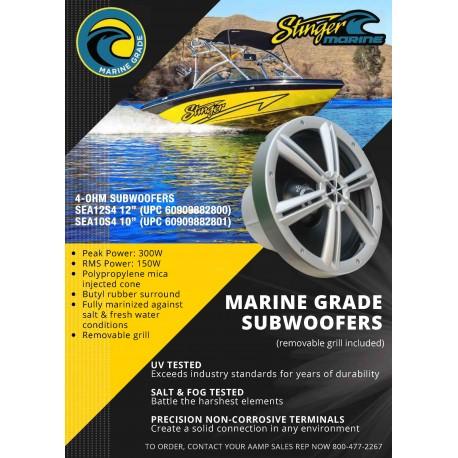 Marine Subwoofer Sales Sheet