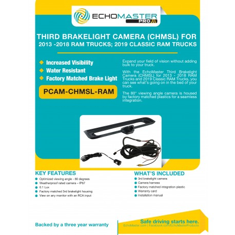 PCAM-CHMSL-RAM Product Sheet