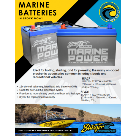 Stinger Marine Batteries Box Stuffer