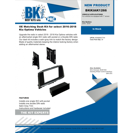 BKKIAK1266 Product Sheet