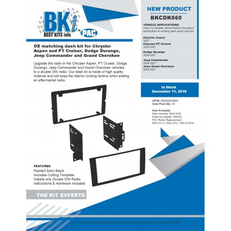 BKCDK660 PRODUCT SHEET