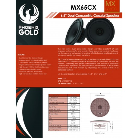 MX65CX One Sheet