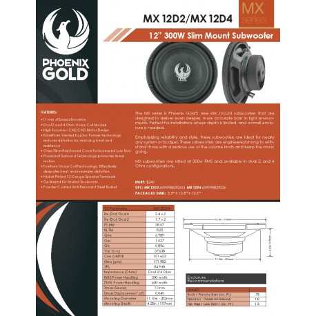 MX12D2 & MX12D4 One Sheet