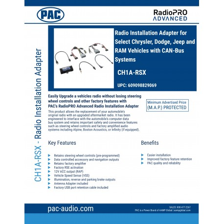CH1A-RSX PRODUCT SHEET