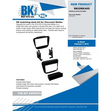 BKGMK460 Product Sheet